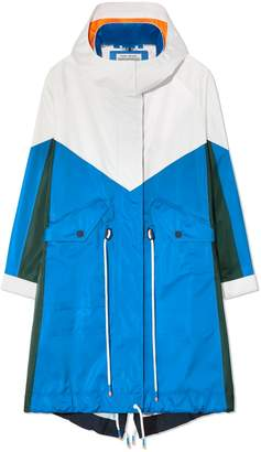 Tory Sport PERFORMANCE SATIN COLOR-BLOCK PARKA