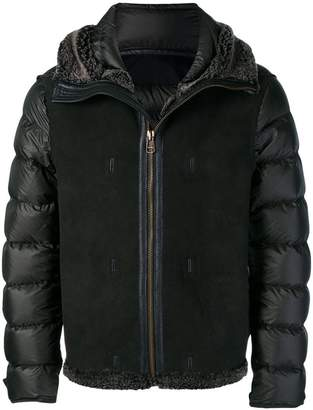 Ten C panelled puffer jacket