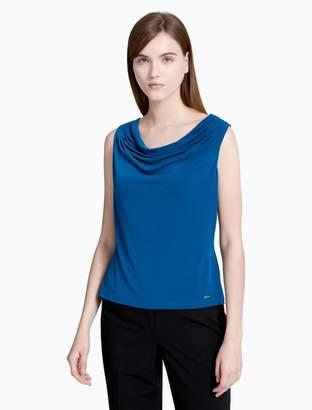 Calvin Klein matte jersey drape neck cami top