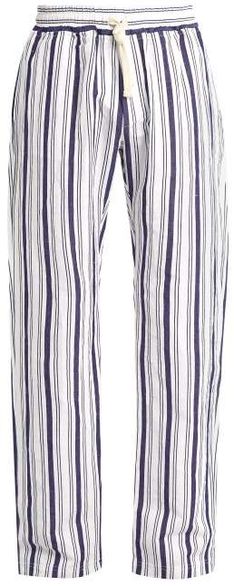 THE GIGI Waikiki stripe-print cotton-blend trousers