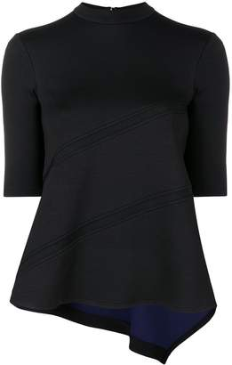 Jil Sander Navy short-sleeve fitted top