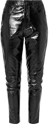 Ksubi Dreams Textured Patent-leather Slim-leg Pants - Black