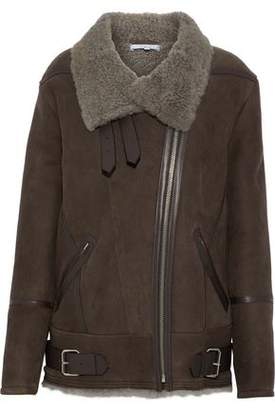 IRO Barrett Leather And Shearling-Trimmed Suede Jacket