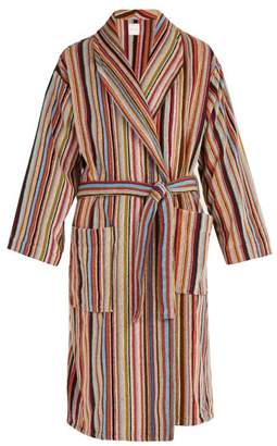 Paul Smith Striped Cotton Bathrobe - Mens - Multi