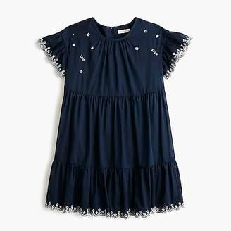 J.Crew Girls' tiered dress with stars