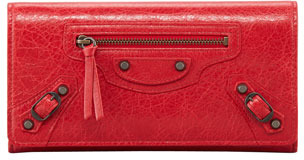 Balenciaga Classic Money Wallet, Red