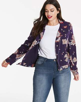 Fashion World Print Lightweight Biker Jacket