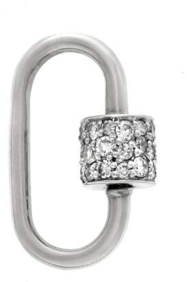Marla Aaron Medium Stoned Diamond Lock - White Gold