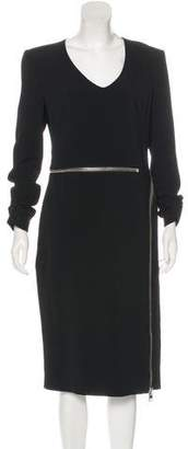 Tom Ford Zip-Accented Crepe Dress