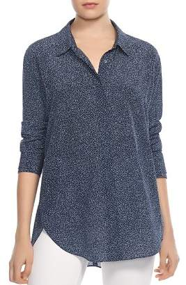 Halston Printed Silk Shirt