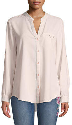 KUT from the Kloth Jasmine Button-Front Chiffon Blouse