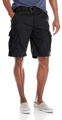 UNIONBAY Men's Survivor Belted Cargo Short-reg and Big and Tall Sizes
