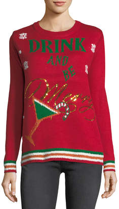 Chelsea & Theodore Drink and Be Merry Crewneck Sweater