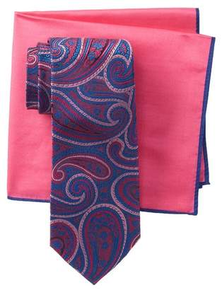 Ted Baker Large Paisley Tie & Pocket Square Set