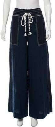 Tanya Taylor Jansen Linen Wide-Leg Pants w/ Tags