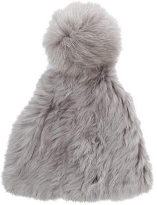 Fur Knit Pom-Pom Beanie