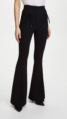Nina Ricci Flared Wool Crepe Trousers