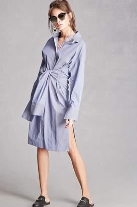 Forever 21 Korirl Tie-Front Shirt Dress