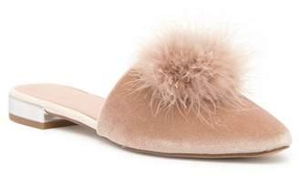 BCBGeneration Katrina Faux Fur Pompom Velvet Mule