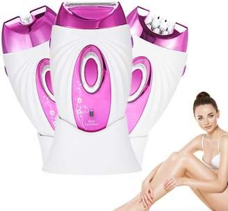 ZJchao Women's Electric Epilator, Rechargeable Wet & Dry Lady Hair Shaver Waterproof Multifunction Bikini Line Legs Armpit Body Trimmer Tweezing Disks Remover Razor
