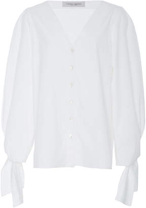 Carolina Herrera V-Neck Blouse