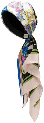 Gucci floral print silk turban