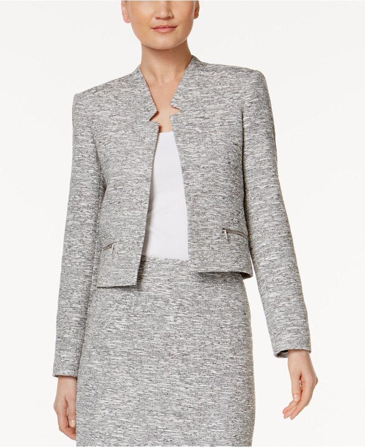 Calvin KleinCalvin Klein Zip-Pocket Tweed Blazer