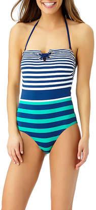 Liz Claiborne Stripe One Piece Swimsuit