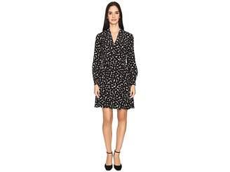Kate Spade Blot Dot V-Neck Dress Women's Dress