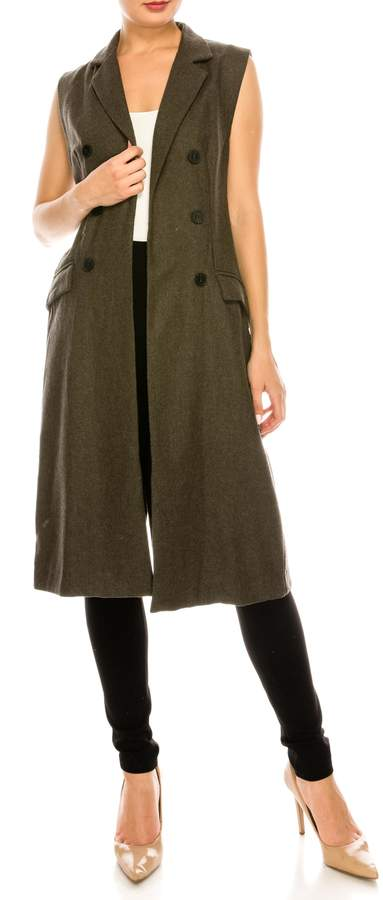 Long Olive Vest