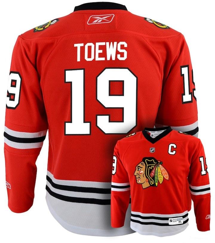 Reebok Boys 8-20 Chicago Blackhawks Jonathan Toews NHL Replica Jersey