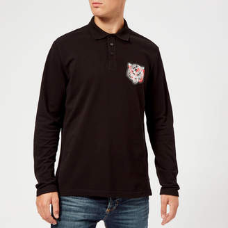 Versace Men's Long Sleeve Polo Shirt