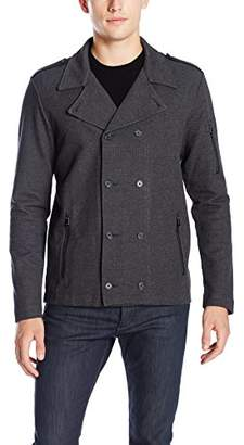 Calvin Klein Men's Textured Ponte Knit Double Breasted Jacket