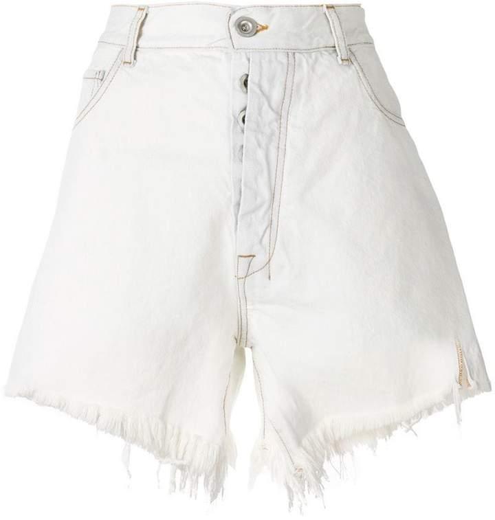 Unravel Project Jeans-Shorts mit Fransen