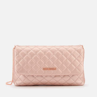 Love Moschino Women's Quilted Logo Cross Body Bag - Pink