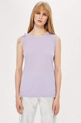 Topshop Womens **Tie Shoulder Tank Top By Boutique