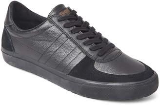 Gola Black Venture Leather Low-Top Sneakers