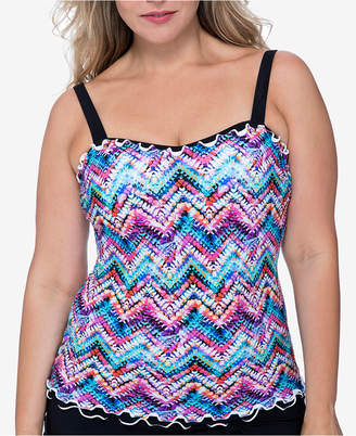 Gottex Profile by Plus Size Underwire Tummy-Control Tankini Top Women's Swimsuit