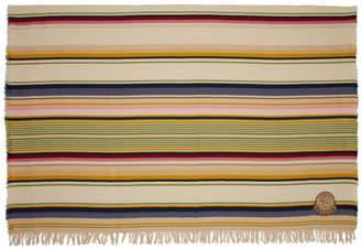 Loewe Beige Stripes Wool Blanket