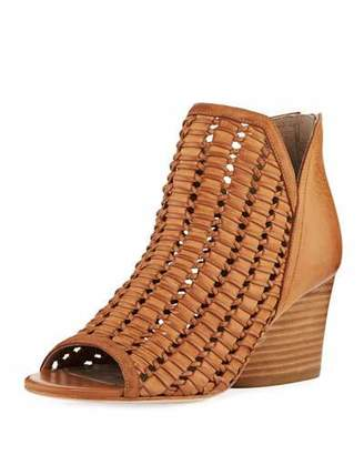 Donald J Pliner Jacqi Woven Leather Bootie, Fawn