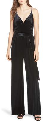 Rebecca Minkoff Luna Stretch Velvet Jumpsuit