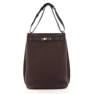 Hermes So Kelly leather handbag