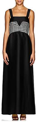 CF GOLDMAN Women's Corset-Detail Wool-Silk Gown - Black