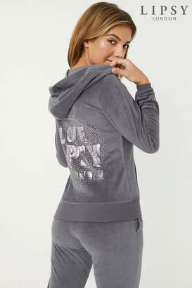 Next Lipsy Velour Love Crown Logo Hoodie - 4