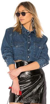Miss Sixty Palmer Girls x Vintage Cropped Denim Shirt.