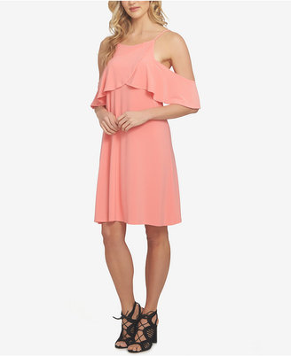 1.state Cold-Shoulder Flounce Dress $89 thestylecure.com