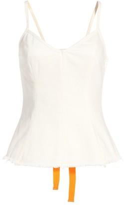 Women's Topshop Boutique Lace-Up Back Denim Camisole $85 thestylecure.com