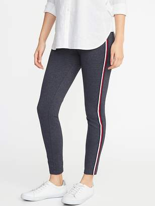 Old Navy High-Rise Stevie Side-Stripe Textured Ponte Pants for Women