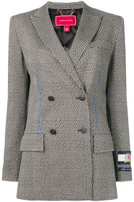 Tommy Hilfiger houndstooth double-breasted tailored jacket