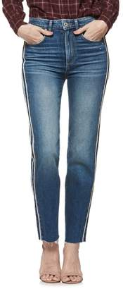 Paige Hoxton Vintage Side Stripe High Waist Straight Leg Ankle Jeans